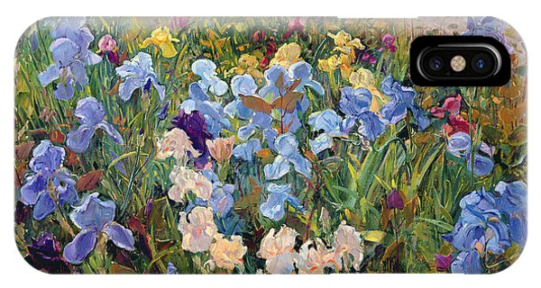 Botany iPhone Case - The Iris Bed by Timothy Easton