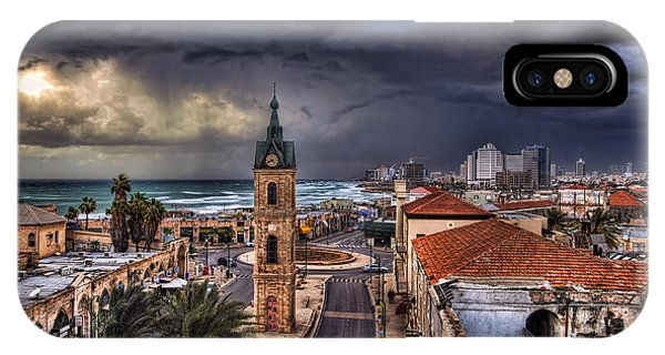 the Jaffa old clock tower IPhone Case