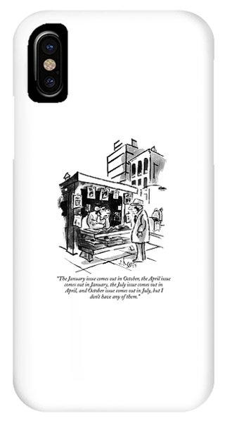 The January Issue Comes Out In October IPhone Case