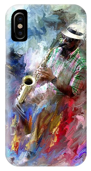 The Jazz Player IPhone Case