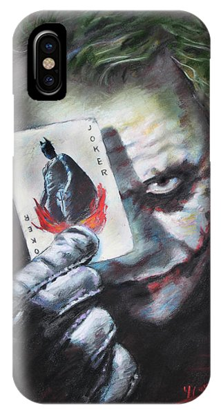 Knight iPhone Case - The Joker Heath Ledger  by Viola El