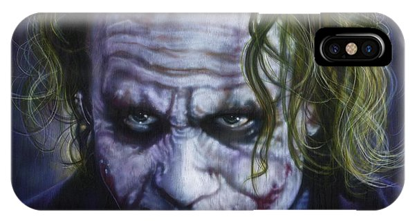 Airbrush iPhone Case - The Joker by Timothy Scoggins