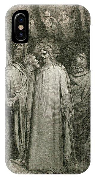 New Testament iPhone Case - The Judas Kiss (matthew, Chapter Xxvi by Prisma Archivo
