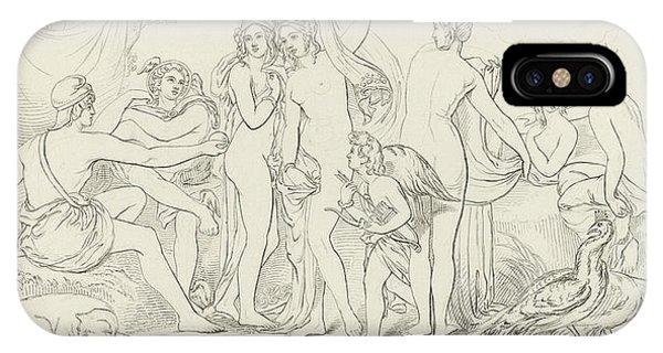 Peafowl iPhone Case - The Judgement Of Paris by William Etty