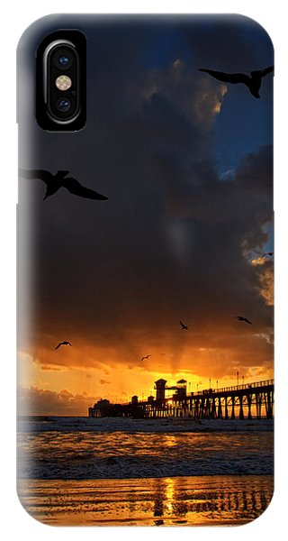 The Jutting Pier At Sundown  Phone Case by Donna Pagakis