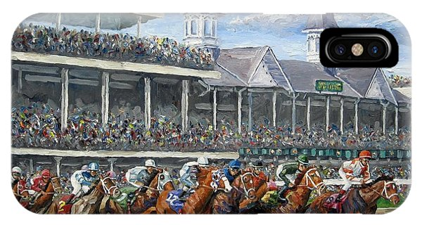 England iPhone Case - The Kentucky Derby - Churchill Downs by Mike Rabe