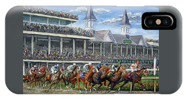 The Kentucky Derby - Churchill Downs IPhone Case