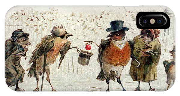 Wintry iPhone Case - The Kindly Robin by Castell Brothers