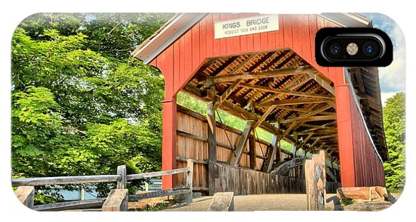 Somerset County iPhone Case - The King Covered Bridge by Adam Jewell