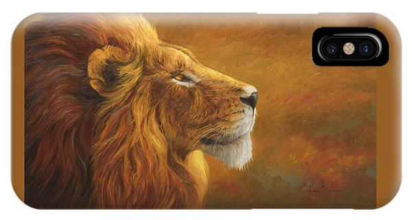 Lion iPhone Case - The King by Lucie Bilodeau