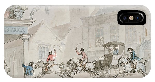 Pub iPhone Case - The Kings Arms, Dorchester by Thomas Rowlandson
