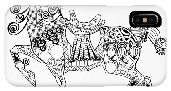 The King's Horse - Zentangle IPhone Case