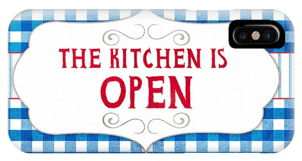 Dinner iPhone Case - The Kitchen Is Open by Linda Woods