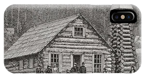 1877 iPhone Case - The Klondike Presbyterian Church At Juneau, Alaska by American School