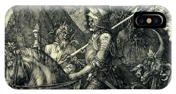 Albrecht Durer iPhone Case - The Knight, Death And The Devil by Albrecht Durer or Duerer