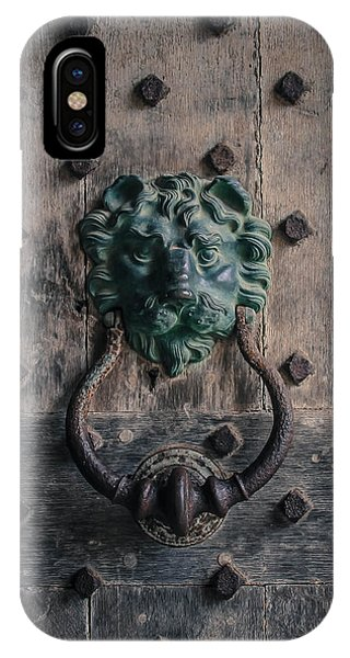 The Knocker At Leeds Castle Phone Case by Marie  Cardona