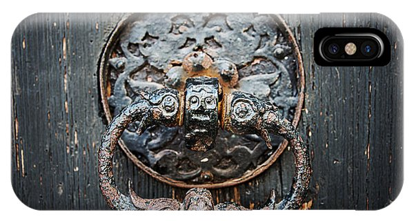 IPhone Case featuring the photograph The Knocker by Ryan Wyckoff
