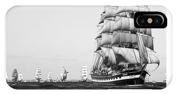 The Kruzenshtern Departing The Port Of Cadiz IPhone Case