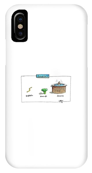 Broccoli iPhone Case - The Labels Beneath Images Of Spaghetti by Farley Katz