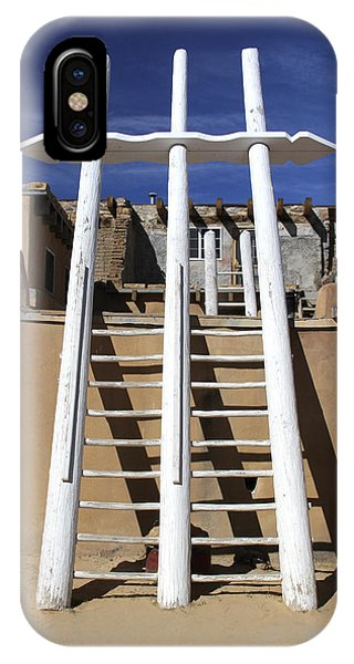 Adobe iPhone Case - The Ladder Acoma Pueblo by Mike McGlothlen