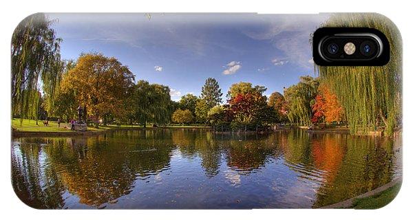 The Lagoon - Boston Public Garden IPhone Case