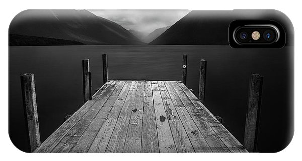 Pier iPhone Case - The Lake by Yan Zhang