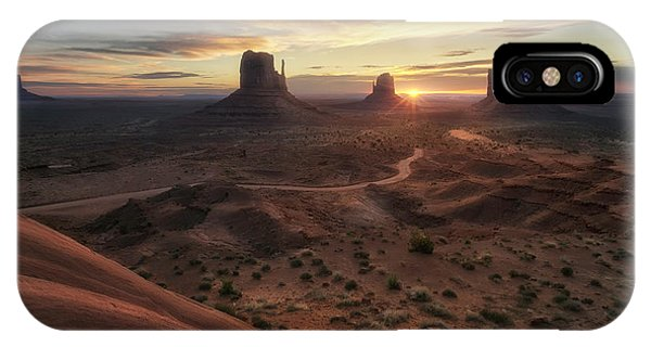 Monument Valley iPhone Case - The Landscape Of My Dreams by Fiorenzo Carozzi