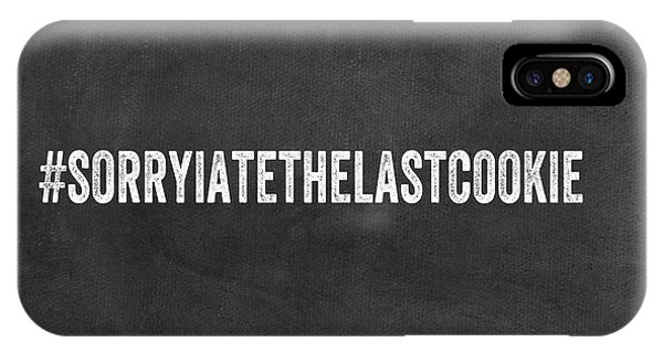Office iPhone Case - The Last Cookie- Greeting Card by Linda Woods