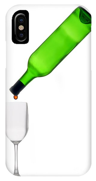 Wine Pouring iPhone Case - The Last Drop by Olivier Le Queinec