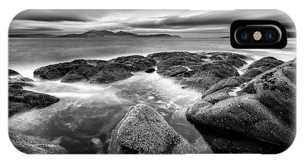 Beautiful Scotland iPhone Case - The Last Light Of The Night by John Farnan