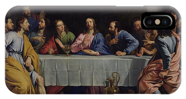 New Testament iPhone Case - The Last Supper by Philippe de Champaigne