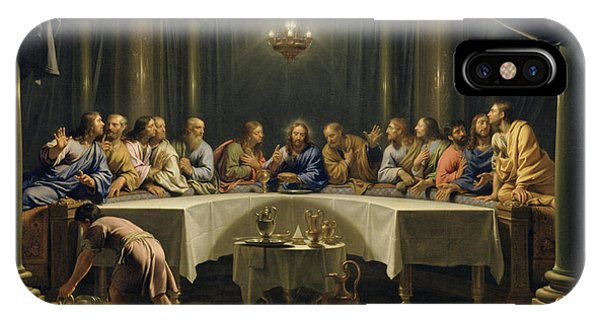 Columns iPhone Case - The Last Supper by Jean Baptiste de Champaigne