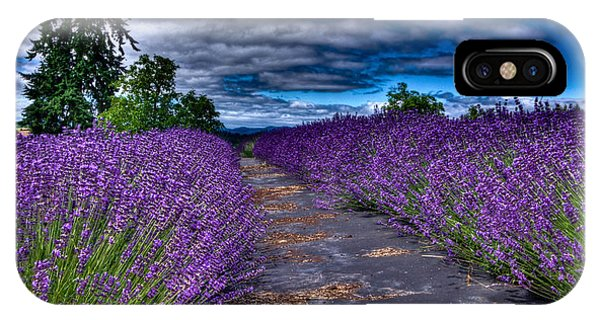The Lavender Field IPhone Case
