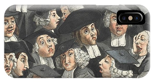 Caricature iPhone Case - The Lecture, Illustration From Hogarth by William Hogarth