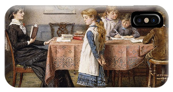 Blond iPhone Case - The Lesson by  George Goodwin Kilburne