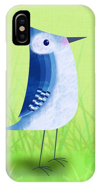 Bluebird iPhone Case - The Letter Blue J by Valerie Drake Lesiak