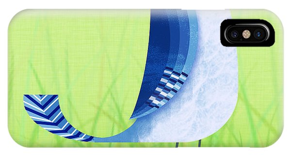 Print iPhone Case - The Letter Blue J by Valerie Drake Lesiak