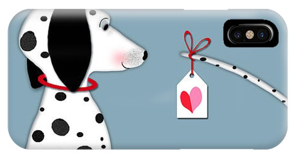 Dog iPhone X Case - The Letter D For Dalmatian by Valerie Drake Lesiak