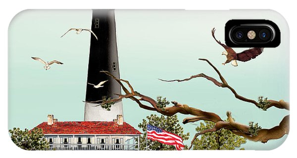 The Light House At Pensacola IPhone Case