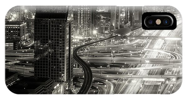 Night iPhone Case - The Light River Of Dubai by Ahmed Thabet