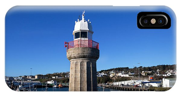 Dunmore East iPhone Case - The Lighthouse And Fishing Harbour by Panoramic Images