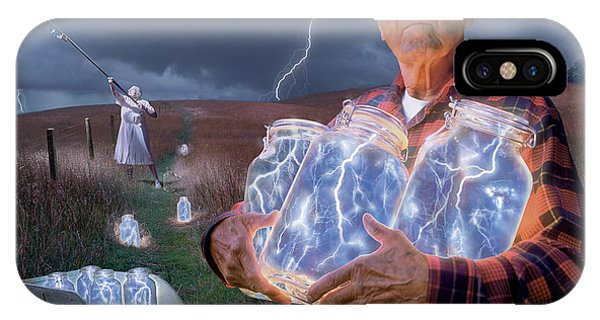 Weather iPhone Case - The Lightning Catchers by Bryan Allen