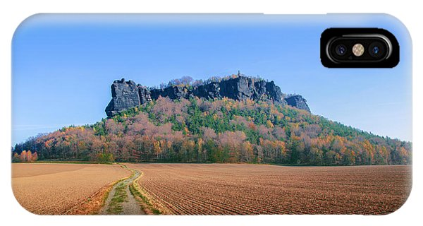 The Lilienstein On An Autumn Morning IPhone Case