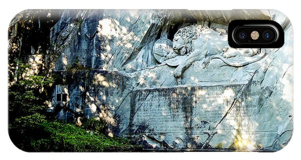 The Lion Monument In Lucerne Switzerland IPhone Case