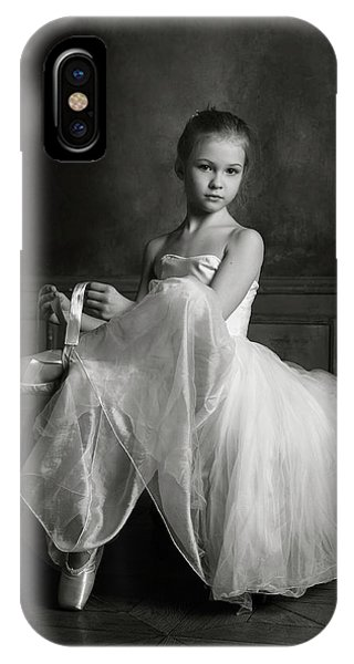 Ballerina iPhone Case - The Little Ballet Dancer by Victoria Ivanova
