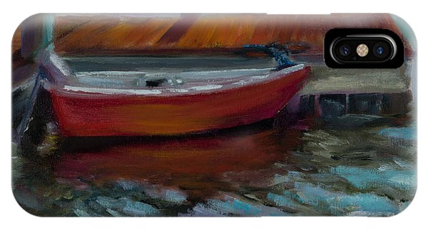 The Little Red Boat Phone Case by Jane Woodward