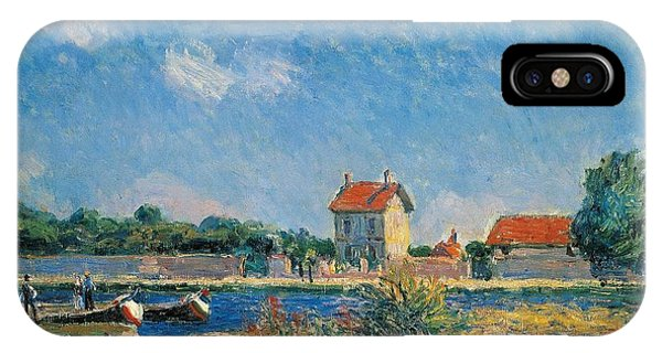 Neighborhood iPhone Case - The Loing Canal At Saint-mammes by Alfred Sisley
