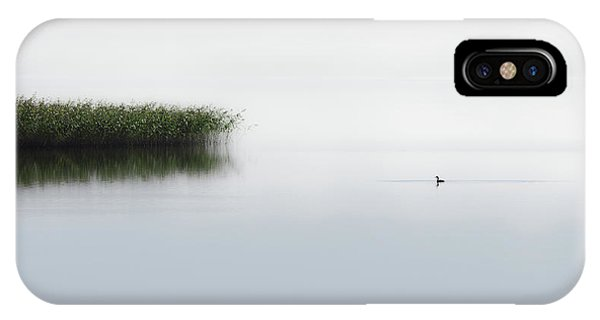 Great Lakes iPhone Case - The Lone Fisher by Bjorn Emanuelson