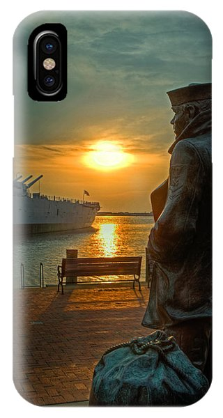 The Lone Sailor IPhone Case