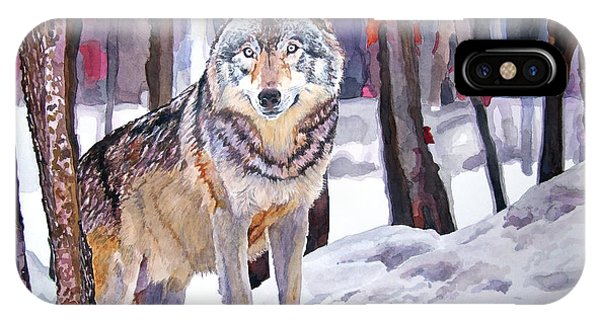 Wolf iPhone Case - The Lone Wolf by David Lloyd Glover
